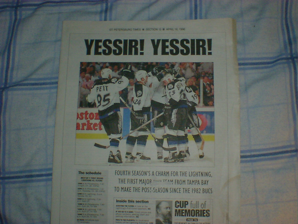 Tampa Bay Lightning playoff preview April 1996